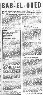 24 Mars 1962 ---- La Bataille de BAB-EL-OUED
