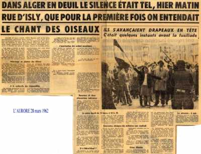 28 Mars 1962 ALGER en Deuil