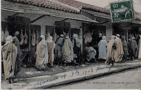 MASCARA - la rue BAB-ALI en 1913
