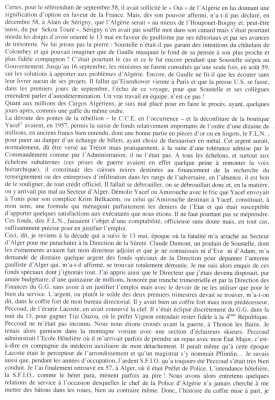"""""""l'arrestation de Yacef SAADI en 1957 avait permis la saisie de fonds imports de l'ordre d'une dizaine de millions de francs"""""""