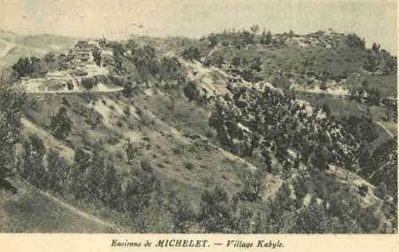 MICHELET  Les Environs - un village Kabyle