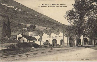 MILIANA  Les ateliers du chemin de fer  (la remise)
