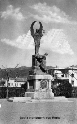 BATNA  Le Monuments aux morts