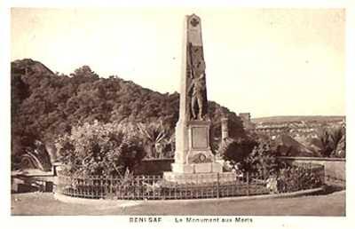 BENI-SAF   Le Monuments aux Morts