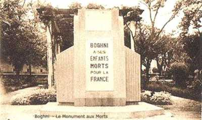 BOGHNI Le Monument aux Morts