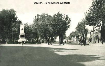BOUIRA Le Monument aux Morts