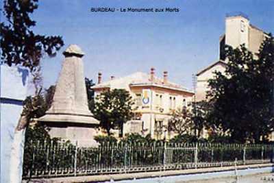 BURDEAU Le Monument aux Morts