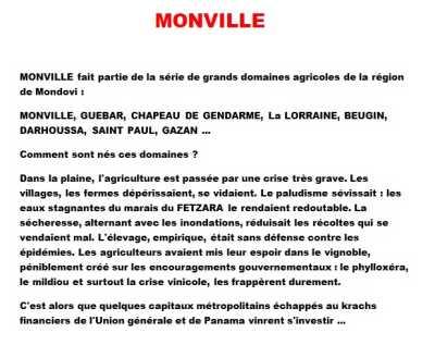 MONVILLE     Site Internet