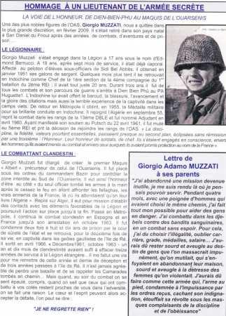 Adjudant-Chef Giorgio MUZZATI