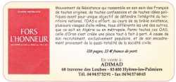 FORS L'HONNEUR Claude MICHELETTI
