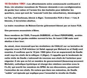 16 Octobre 1961