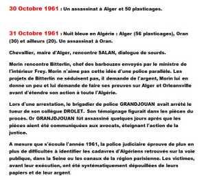 30 et 31 Octobre 1961
