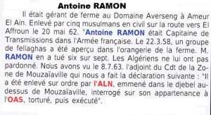 Capitaine  Antoine RAMON