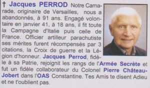 Officier  Jacques PERROD