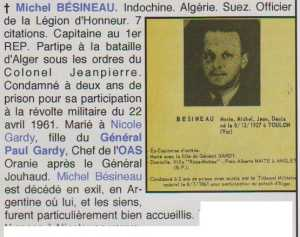 Capitaine  Michel BESINEAU 
