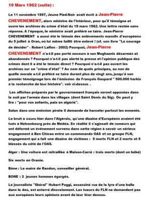 19 Mars 1962 Le Massacre de ST DENIS DU SIG sous les yeux du S/Lt Jean-Pierre CHEVENEMENT ----    Site Internet