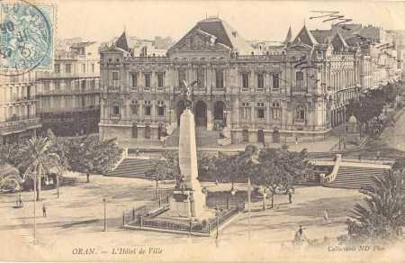 ORAN - La Mairie en 1927