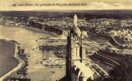 ORAN - Le Port vu de Santa-Cruz
