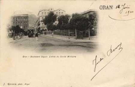 ORAN - Le Tramway en 1900