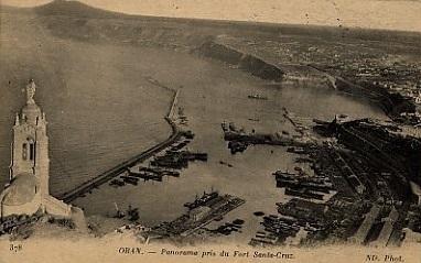 ORAN - Vue de Santa-Cruz