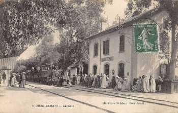 OUED-ZENATI - La Gare vers 1910