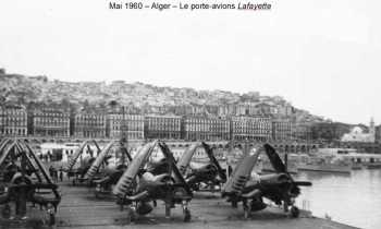 """ALGER - Mai 1960 Le Porte-Avions """"LA FAYETTE"""""""