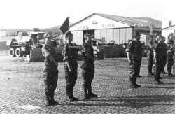 Djidjelli le 10 avril 1961 inspection du Gal LE MASSON, commandant l'ALAT