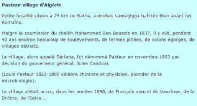 PASTEUR - Son Histoire