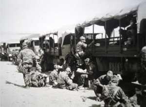 Convoi de Simca transportant le Cdo