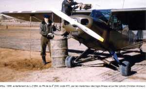 PIPER L-21 BM en ravitaaillement AFLOU 1958 MdL MIREAU et LE MER