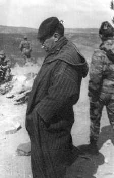 Colonel PLASSARD avec sa djellabah ---- Il commandait le 1er RCP lors du PUTSCH Il comparaitra devant le tribunal Militaire le 26 Juillet 1961
