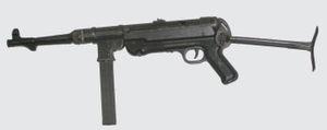 Le Pistolet Mitrailleur Allemand PM40 calibre 9 mm