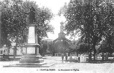 PONT de l'ISSER - Le Monuments aux Morts