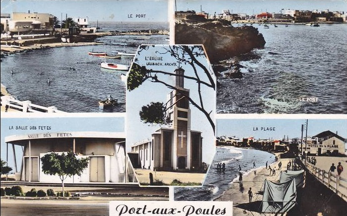 PORT aux POULES - Carte Postale