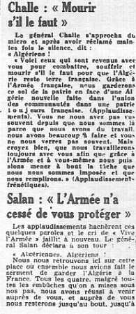 """23 Avril 1961 le Putsch ---- Maurice CHALLE : """"Mourir s'il le faut"""""""