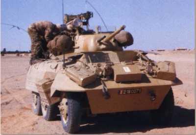 Automitrailleuse M8 du 1er REC Equipage de 4 hommes