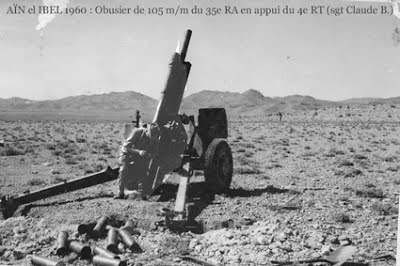 Ain-el-Ibel 1960 - un obusier de 105