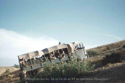 PAUL CAZELLES - Djebel Mongorno  En novembre 1961 Un camion Simca en crabot
