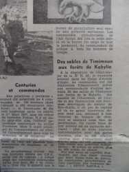 Article de presse traitant des Commandos de l'Air