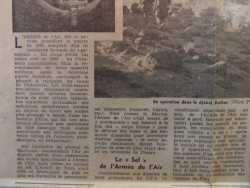 Extrait d'un article de presse concernant les commandos de l'air