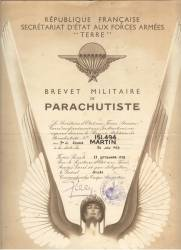 Highlight for Album: Brevet Parachutiste Militaire
