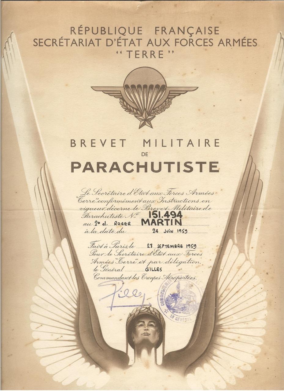images de tenes brevet parachutiste militaire document numerise 61. Black Bedroom Furniture Sets. Home Design Ideas