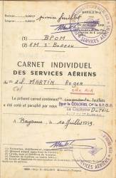 Highlight for Album: Carnet Aérien Individuel