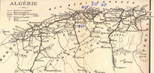 Position des 4 CPA la veille du Putsch le CPA 5 est au Sahara