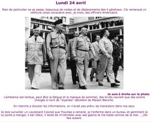 Lundi 24 Avril 1961