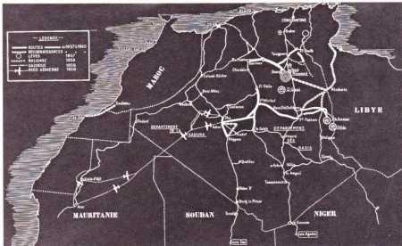 SAHARA Les routes en 1960 ----   Site Internet