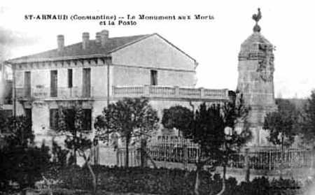 SAINT ARNAUD  Le Monuments aux Morts et la Poste