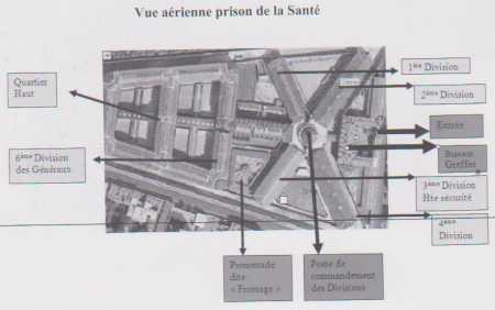 PLAN de la Prison de LA SANTE