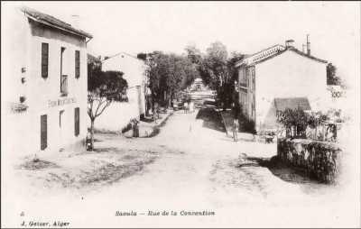 SAOULA en 1890 - Rue de la Convention