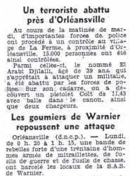 10 Octobre 1956 Orleansville